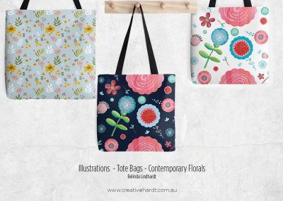 Illustration - Tote Bag - Contemporary Florals