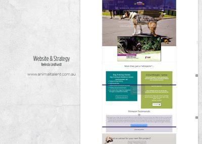 Website Design & Strategy - www.animaltalent.com.au